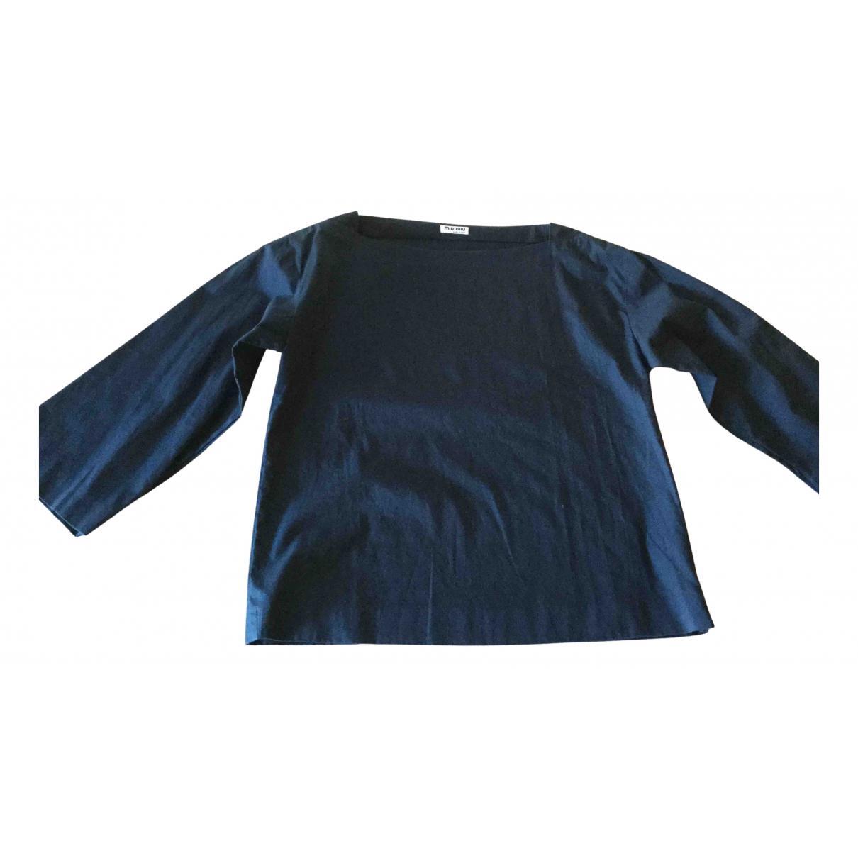 Miu Miu \N Blue Cotton  top for Women 42 IT