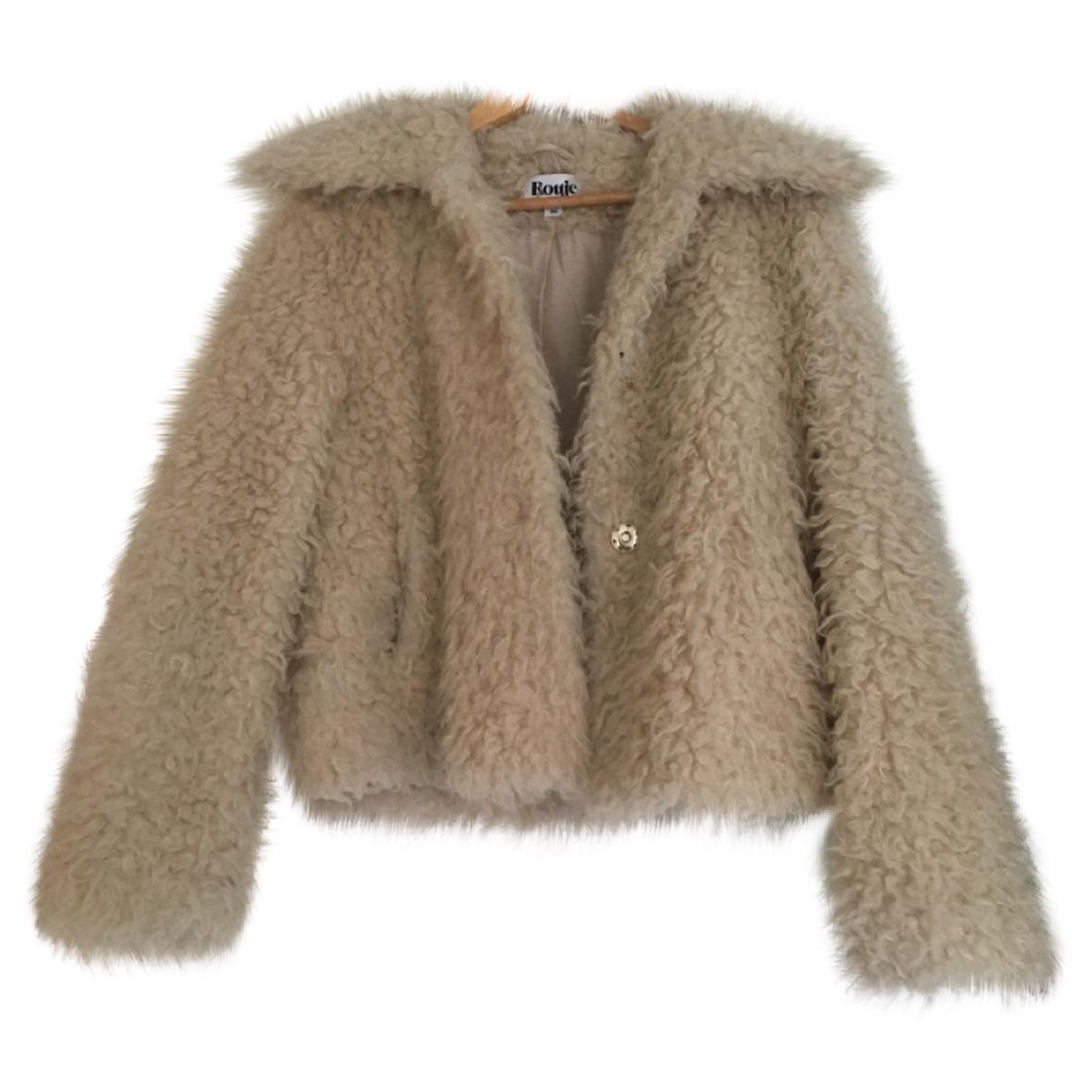 Rouje \N White Faux fur jacket for Women 36 FR