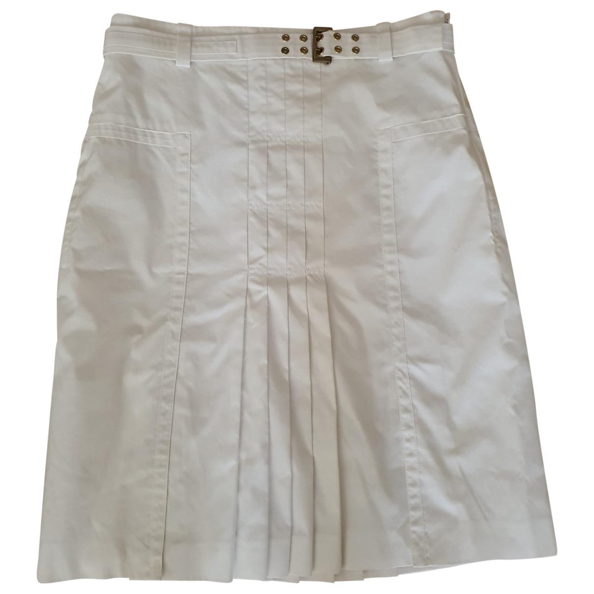 Boss \N White Cotton skirt for Women 38 FR