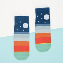 Color Block Pattern Socks