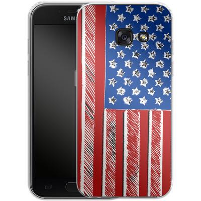 Samsung Galaxy A3 (2017) Silikon Handyhuelle - American Flag Colour von caseable Designs