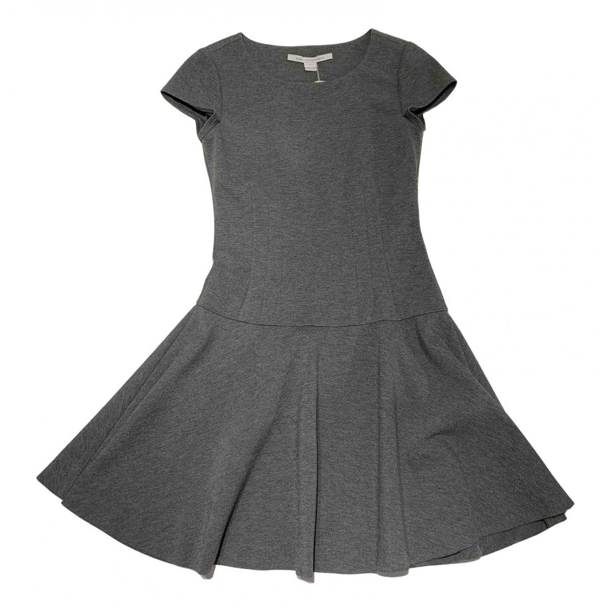 Diane Von Furstenberg \N Kleid in  Grau Viskose