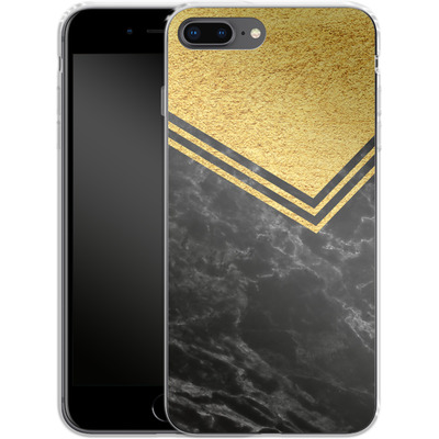 Apple iPhone 7 Plus Silikon Handyhuelle - Gold Marble von caseable Designs