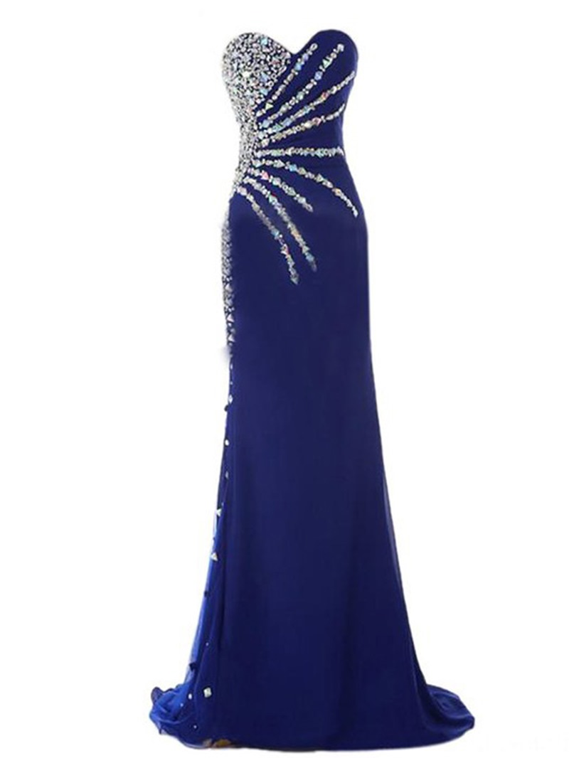 Ericdress Sweetheart Beaded Sheath Evening Dress