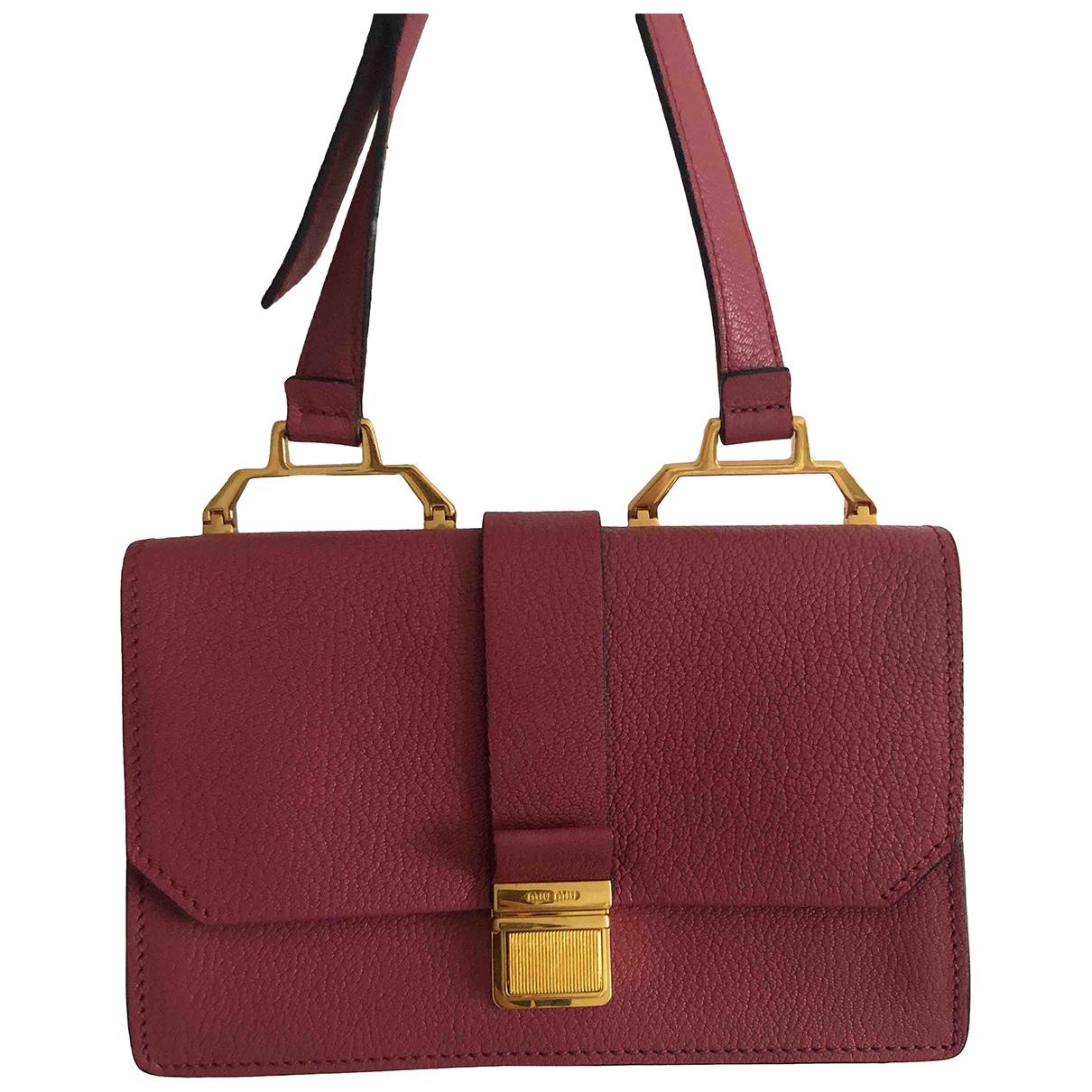 Miu Miu \N Pink Leather handbag for Women \N