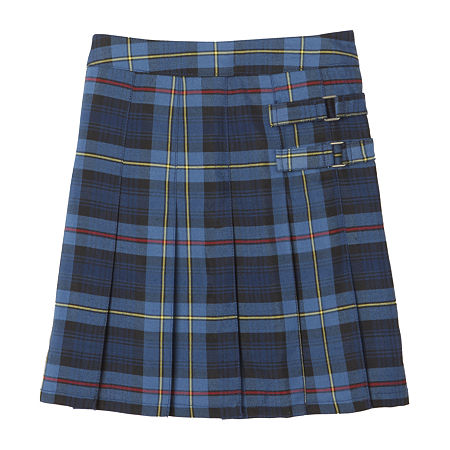 French Toast Plaid Little & Big Girls Scooter Skirt, 20.5 Plus , Blue