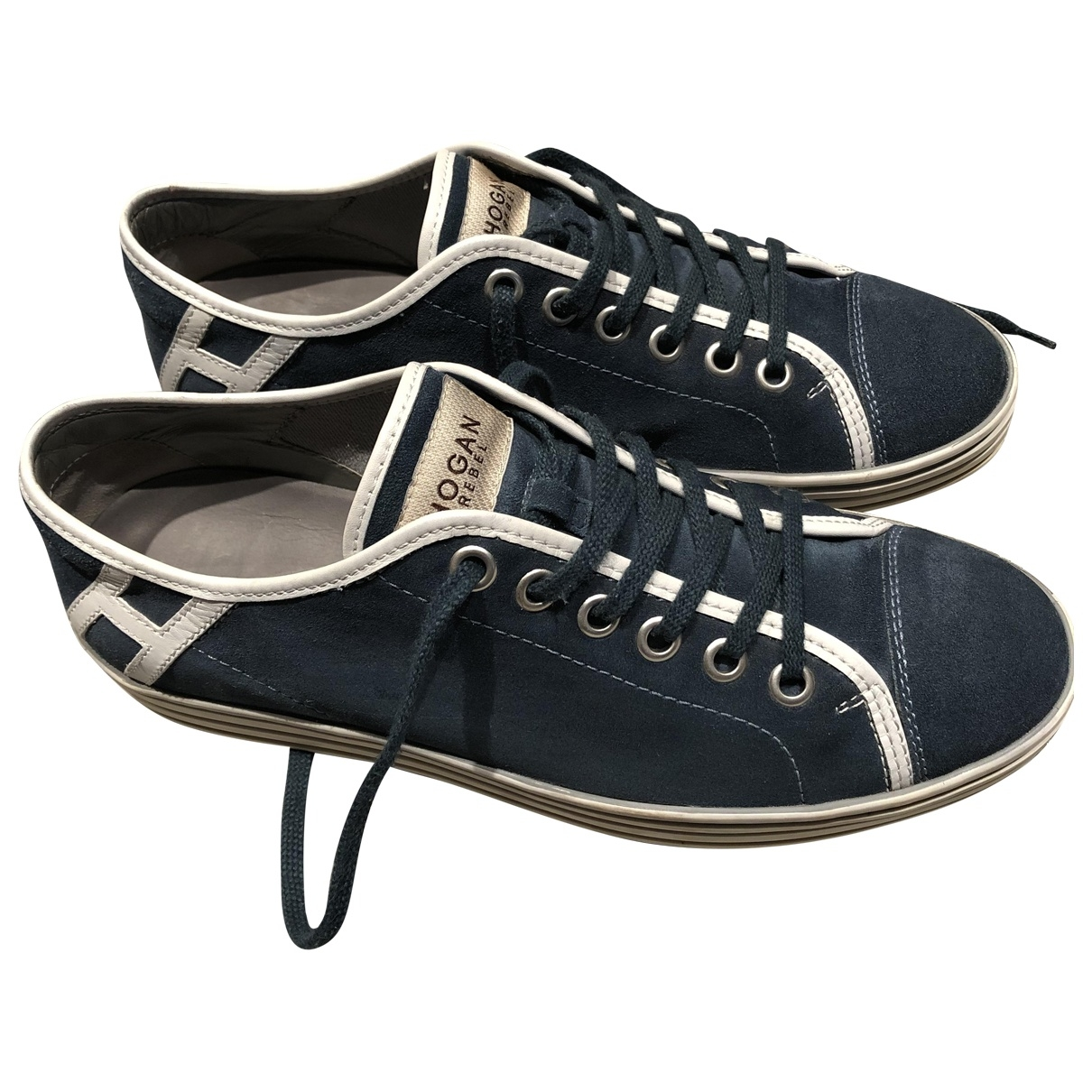 Hogan \N Sneakers in  Blau Leder