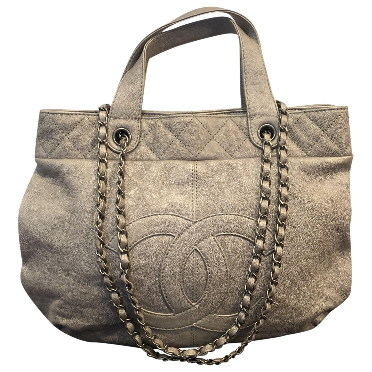 Chanel \N Silver Leather handbag for Women \N