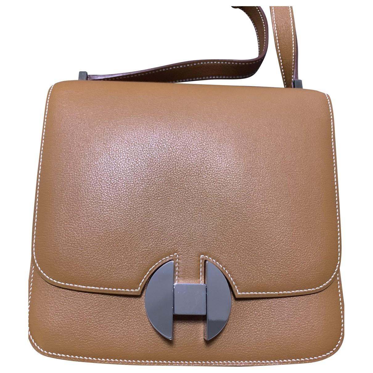 Hermès 2002 Beige Leather handbag for Women \N