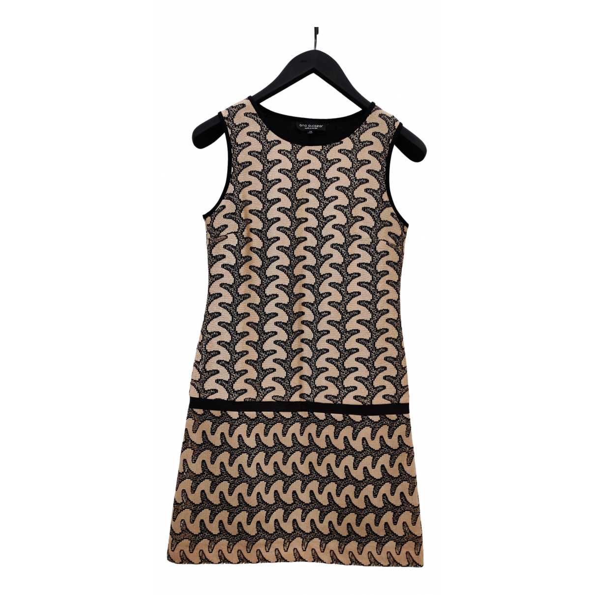 Non Signe / Unsigned \N Kleid in  Gold Viskose