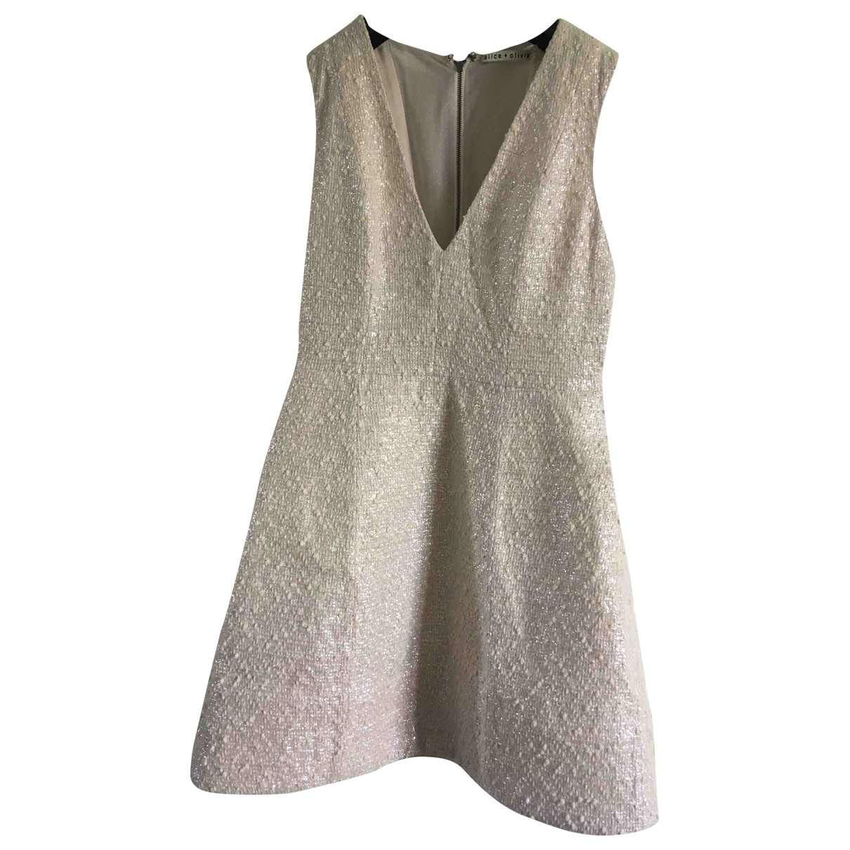 Alice & Olivia \N Beige Cotton dress for Women 8 UK