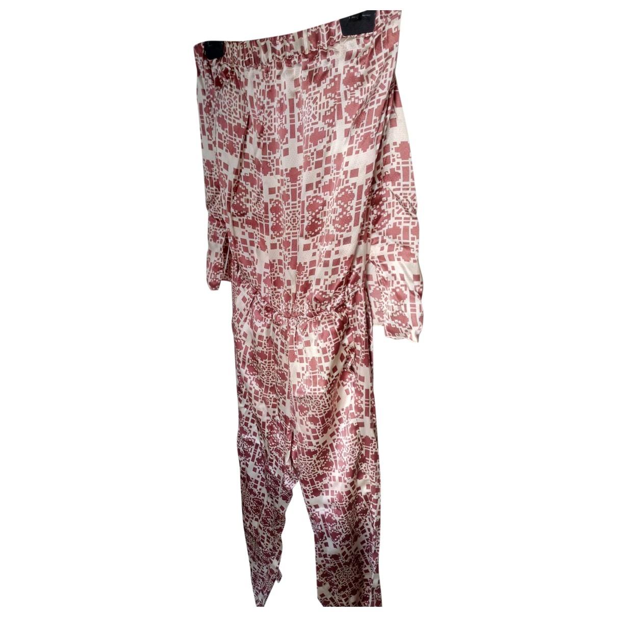 Hoss Intropia - Combinaison   pour femme en soie - bordeaux