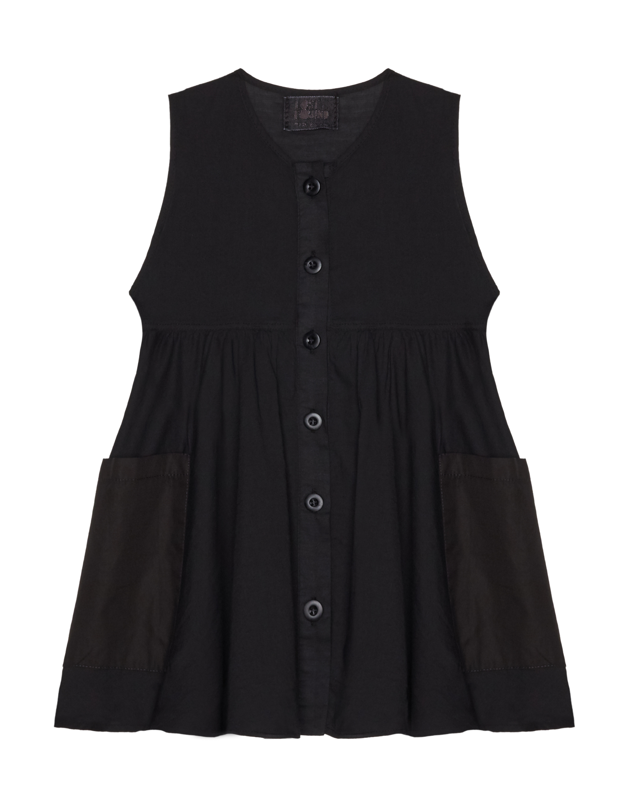 Lost&Found kids Black Cotton Dress