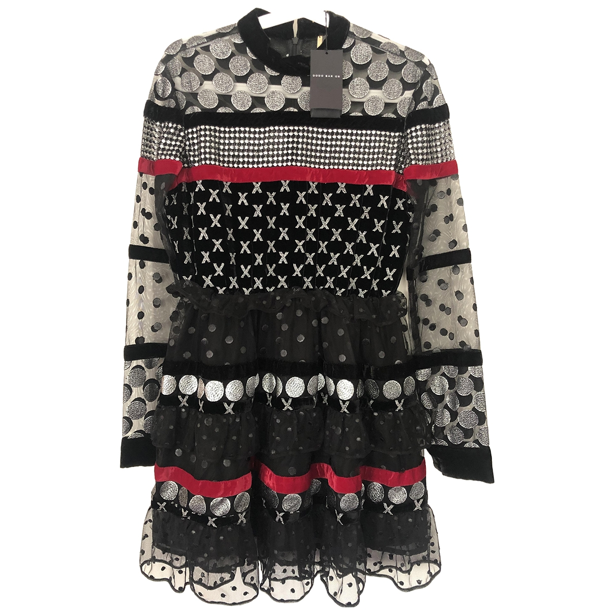 Dodo Bar Or \N Kleid in  Schwarz Samt