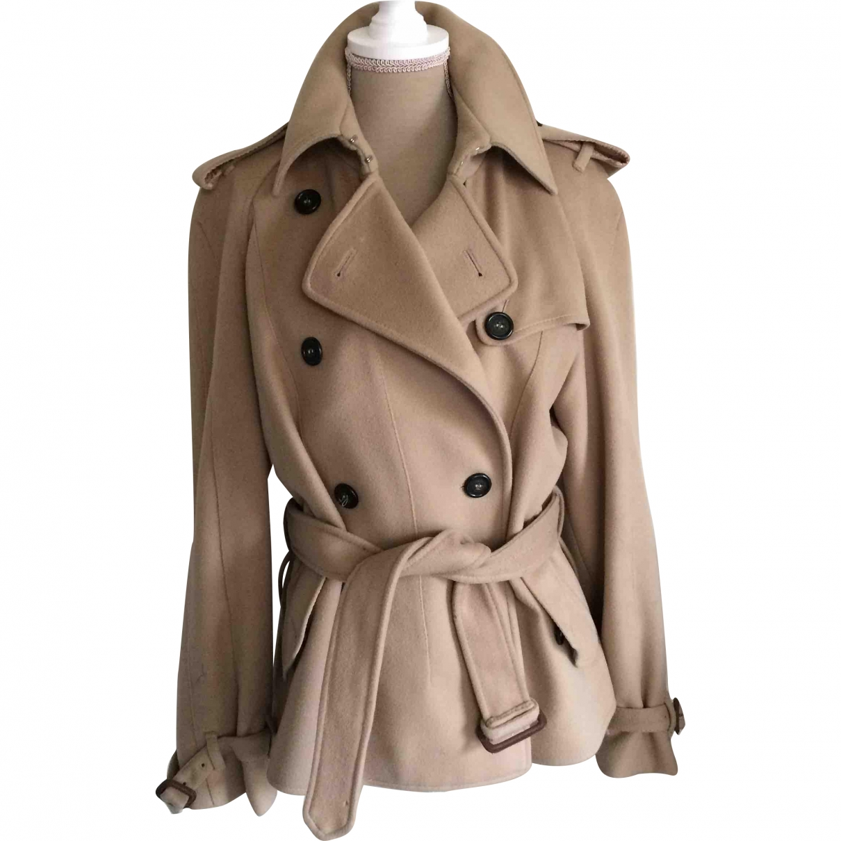 Burberry \N Beige Wool jacket for Women 12 UK