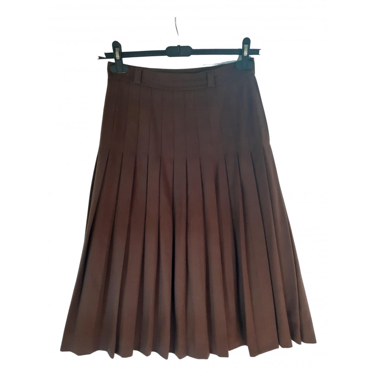 Falda midi de Cachemira Gucci