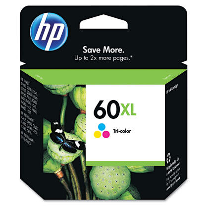 HP 60XL CC644WN Original Tri-color Ink Cartridge High Yield
