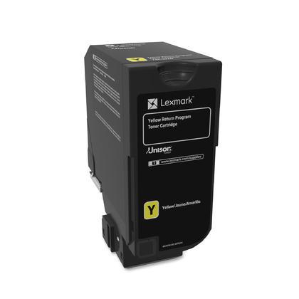 Lexmark 74C10Y0 Original Yellow Return Program Toner Cartridge