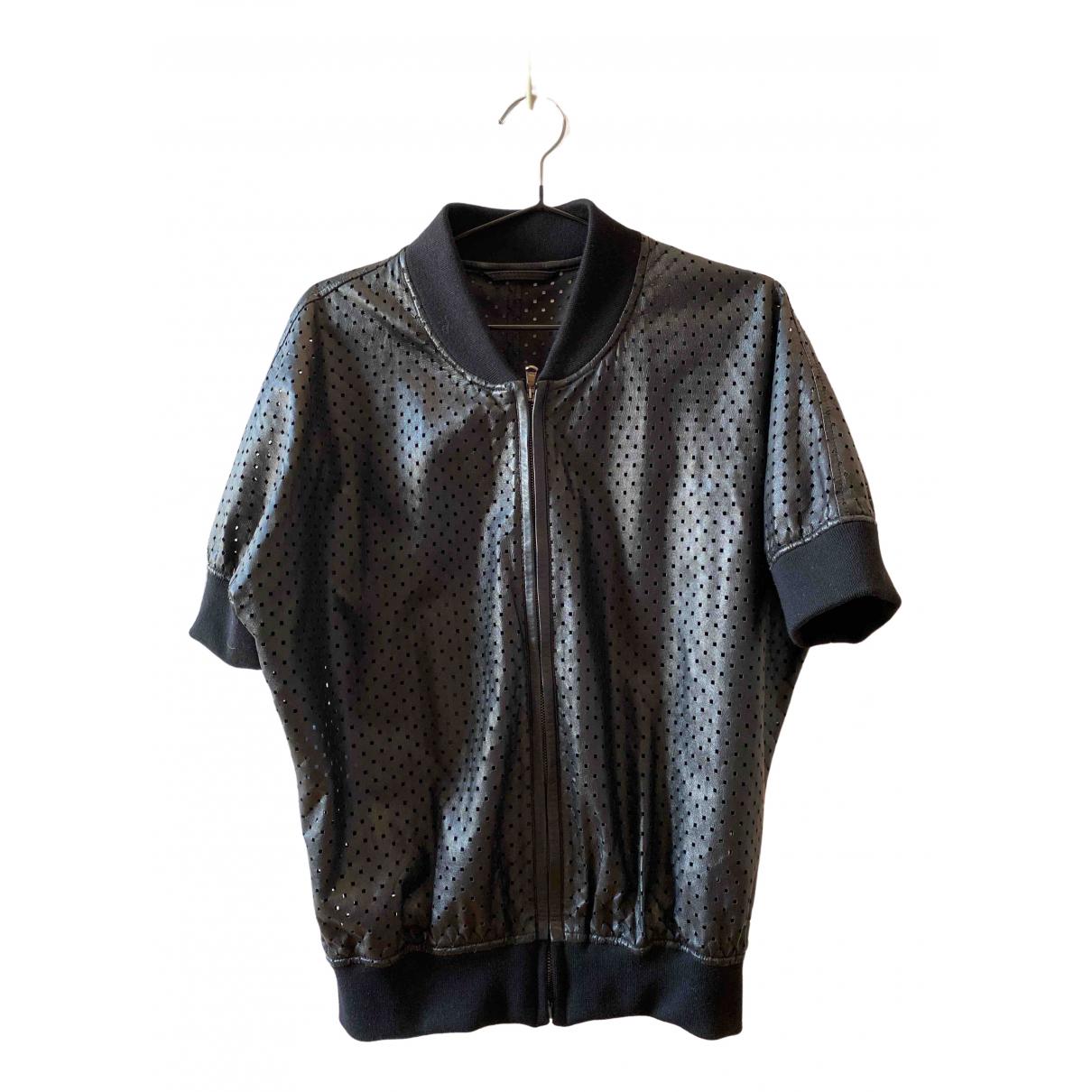 Malo \N Black Leather jacket for Women 44 FR