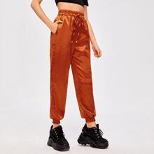 Solid Satin Pants