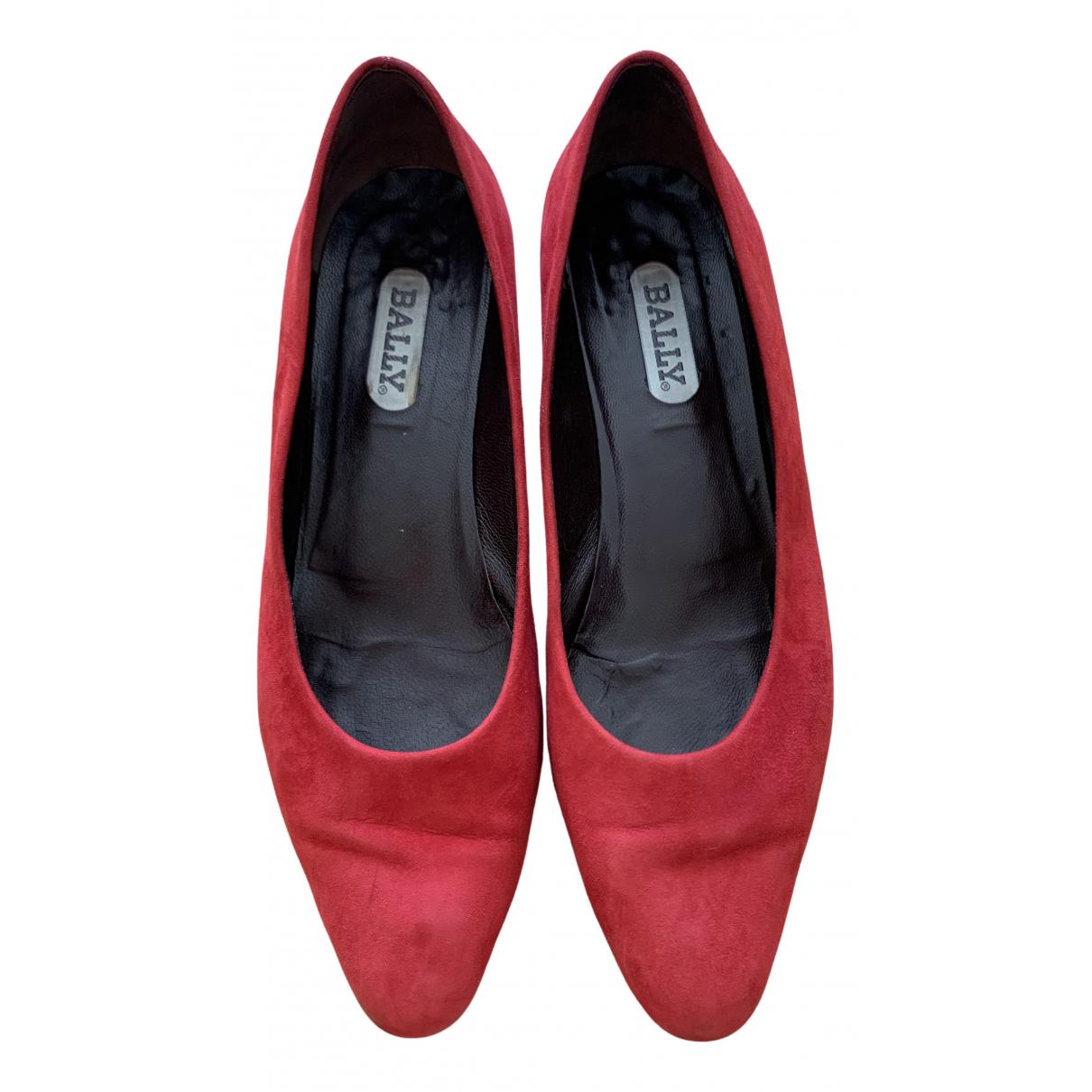 Bally - Escarpins   pour femme en suede - rouge