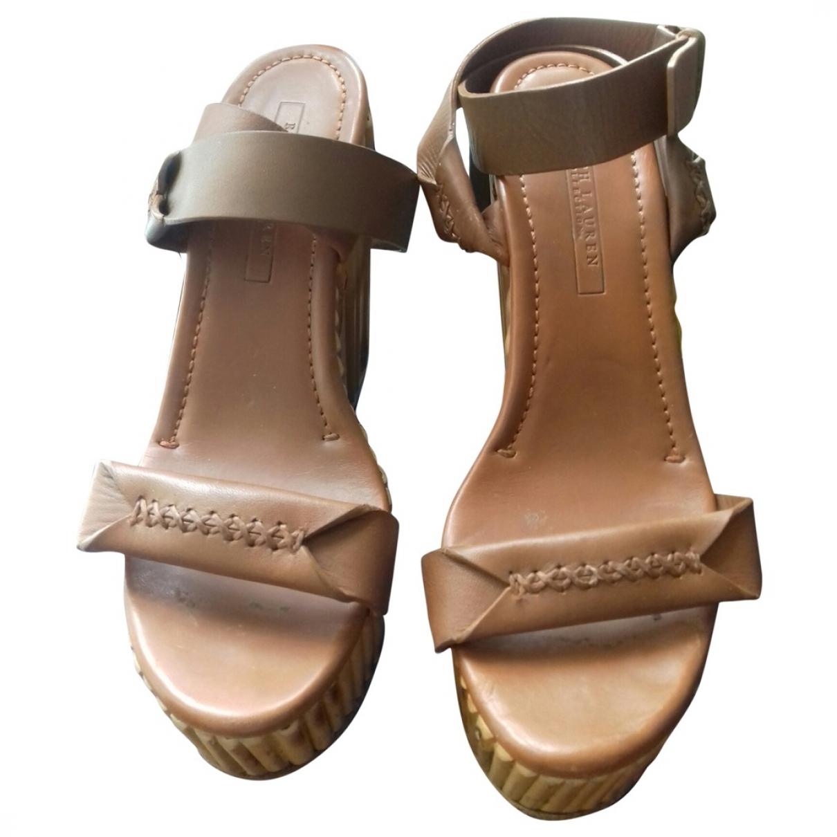 Ralph Lauren Collection \N Brown Leather Sandals for Women 38 EU