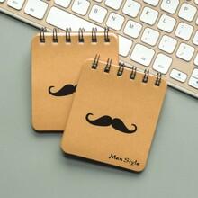 1pc Moustache Spiral Notepad
