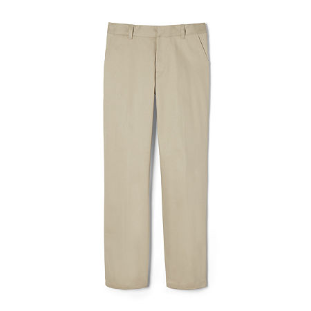 French Toast Double-Knee Big Boys Pleated Flat Front Pant, 14 , Brown