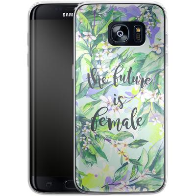 Samsung Galaxy S7 Edge Silikon Handyhuelle - The Future is Female von Stephanie Breeze