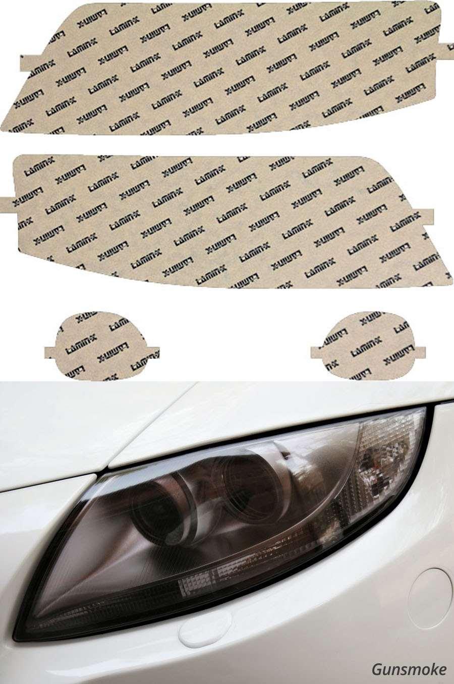 Audi Allroad 01-06 Gunsmoke Headlight Covers Lamin-X A005G