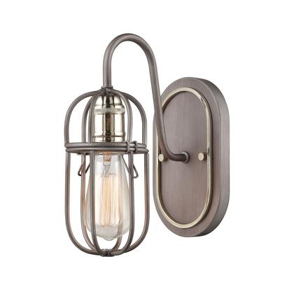55061/1 Industrial Cage 1-Light Vanity Light in Weathered