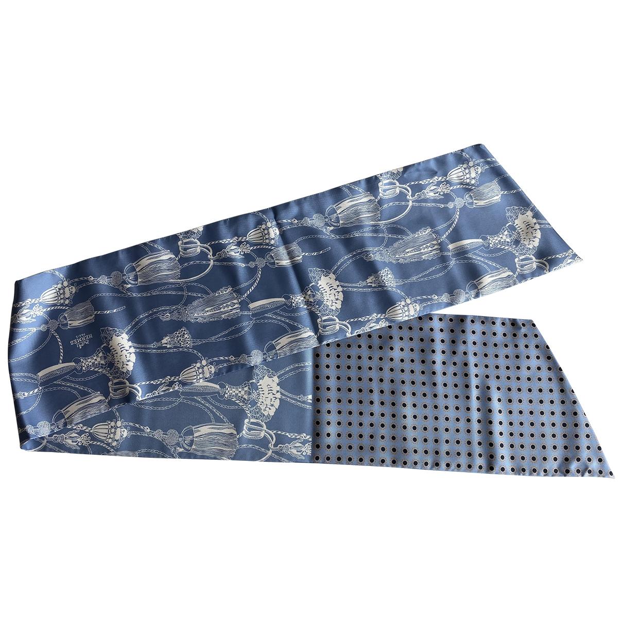 Hermès \N Blue Silk scarf for Women \N