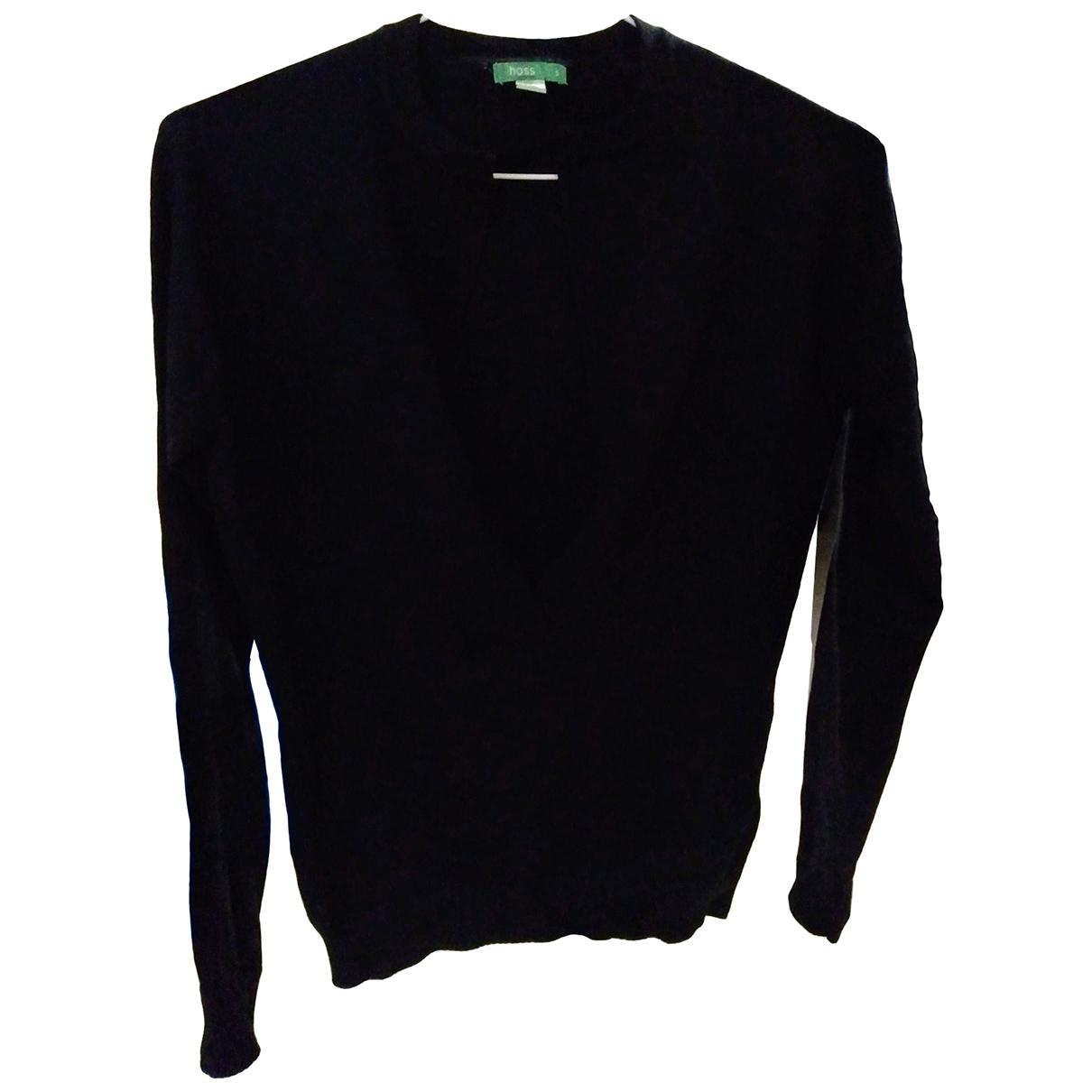 Hoss Intropia - Pull   pour femme en laine - noir