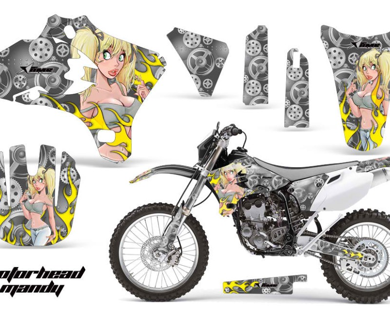AMR Racing Dirt Bike Graphics Kit Decal Wrap For Yamaha WR250 WR450F 2005-2006áMOTO MANDY SILVER