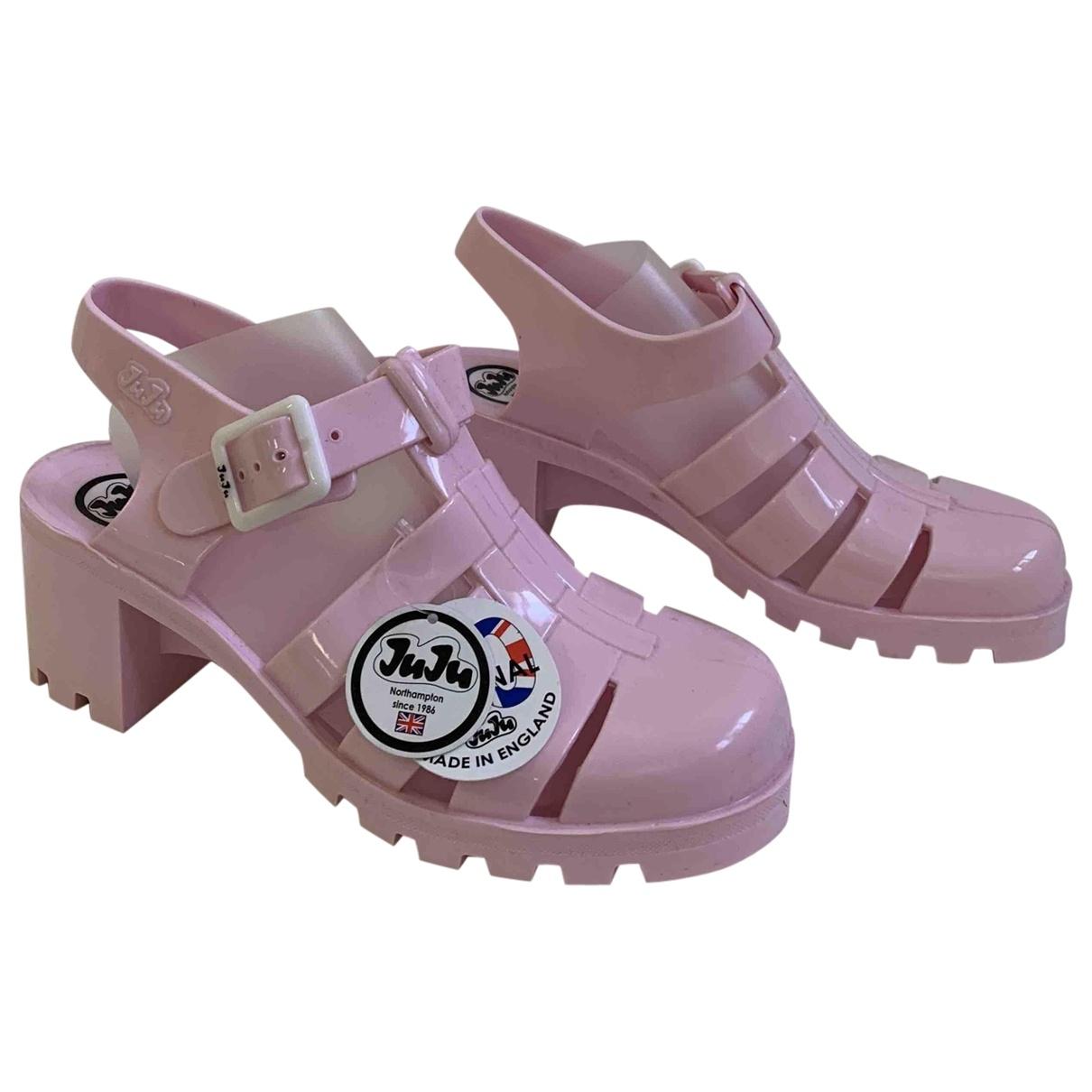 - Sandales   pour femme en caoutchouc - rose