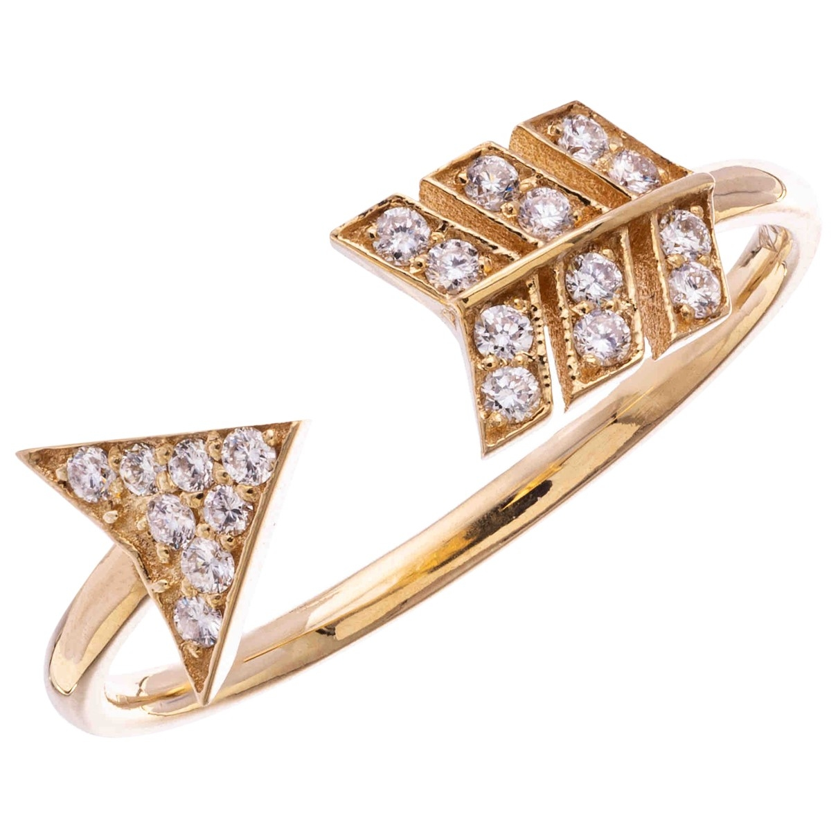 Non Signe / Unsigned Toi & Moi Ring in  Rosa Rosegold