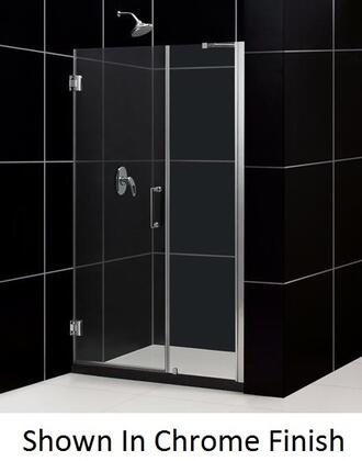 SHDR-20507210-04 Unidoor 50-51 In. W X 72 In. H Frameless Hinged Shower Door With Support Arm In Brushed