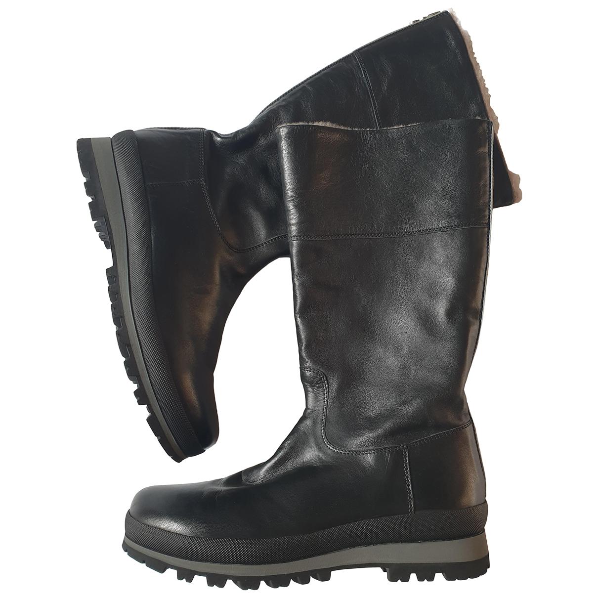 Bogner - Bottes   pour femme en cuir - noir