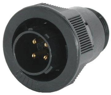 Toughcon Connector, 4 contacts Cable Mount Plug, Crimp IP44, IP65
