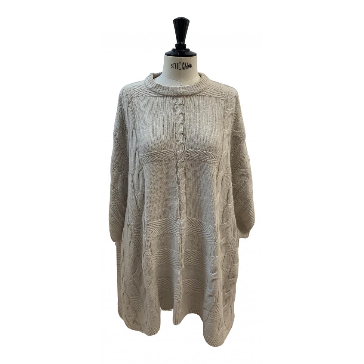 Burberry - Pull   pour femme en laine - ecru