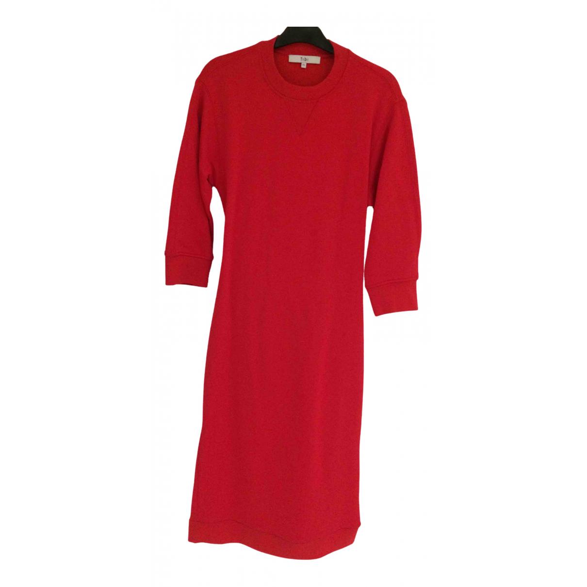 Tibi \N Kleid in  Rot Baumwolle