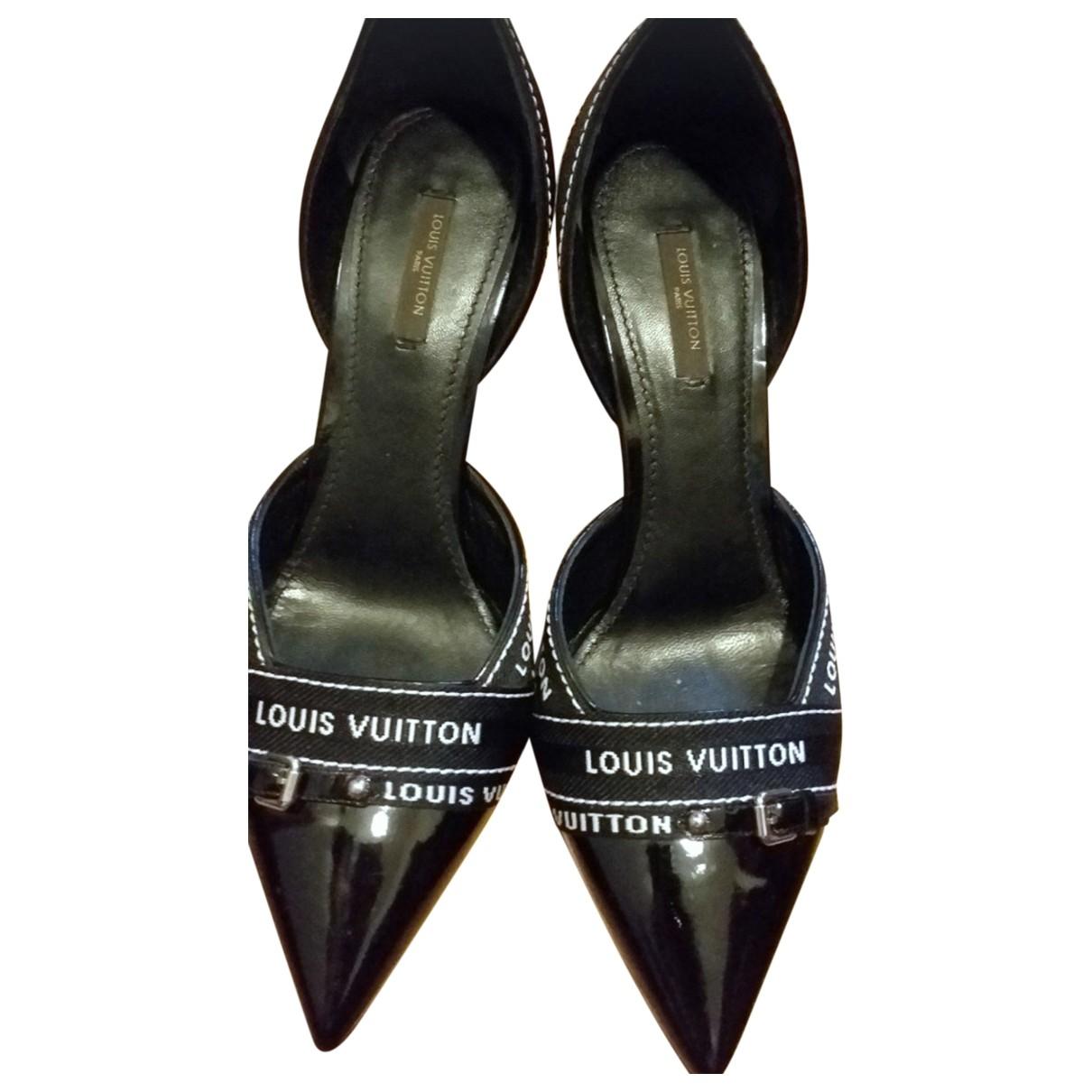 Louis Vuitton \N Black Patent leather Heels for Women 39.5 EU