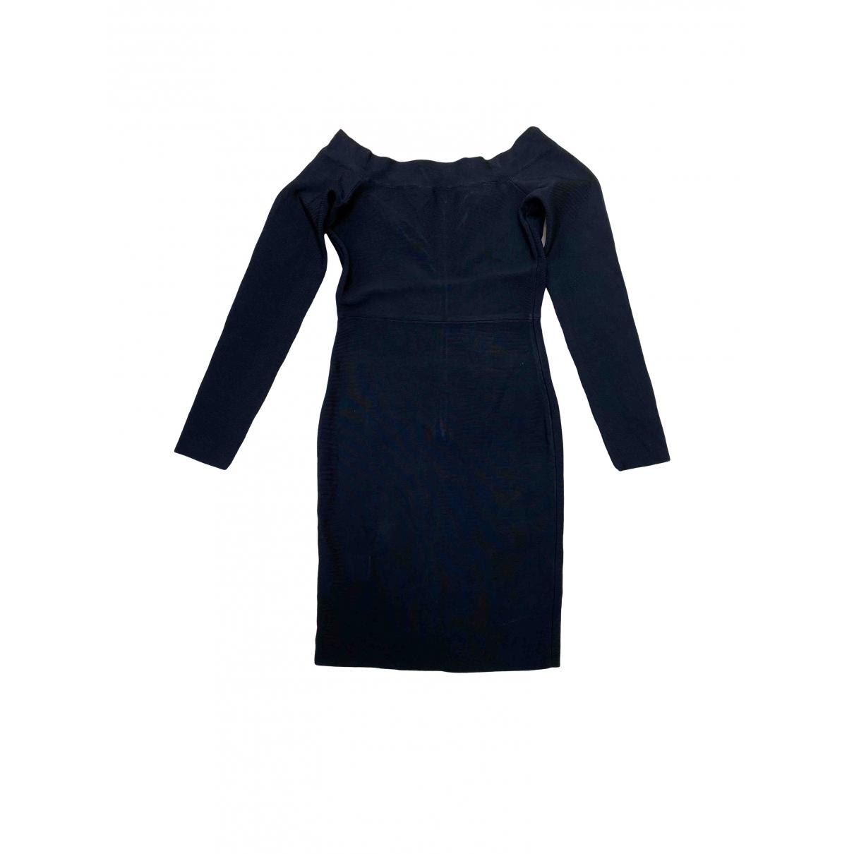 Bcbg Max Azria \N Kleid in  Schwarz Baumwolle - Elasthan