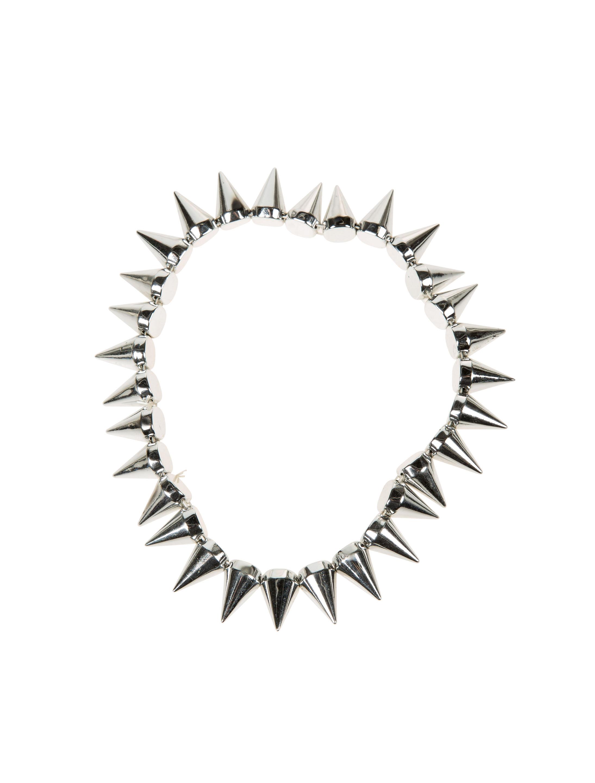 Kostuemzubehor Halskette mit Nieten silber