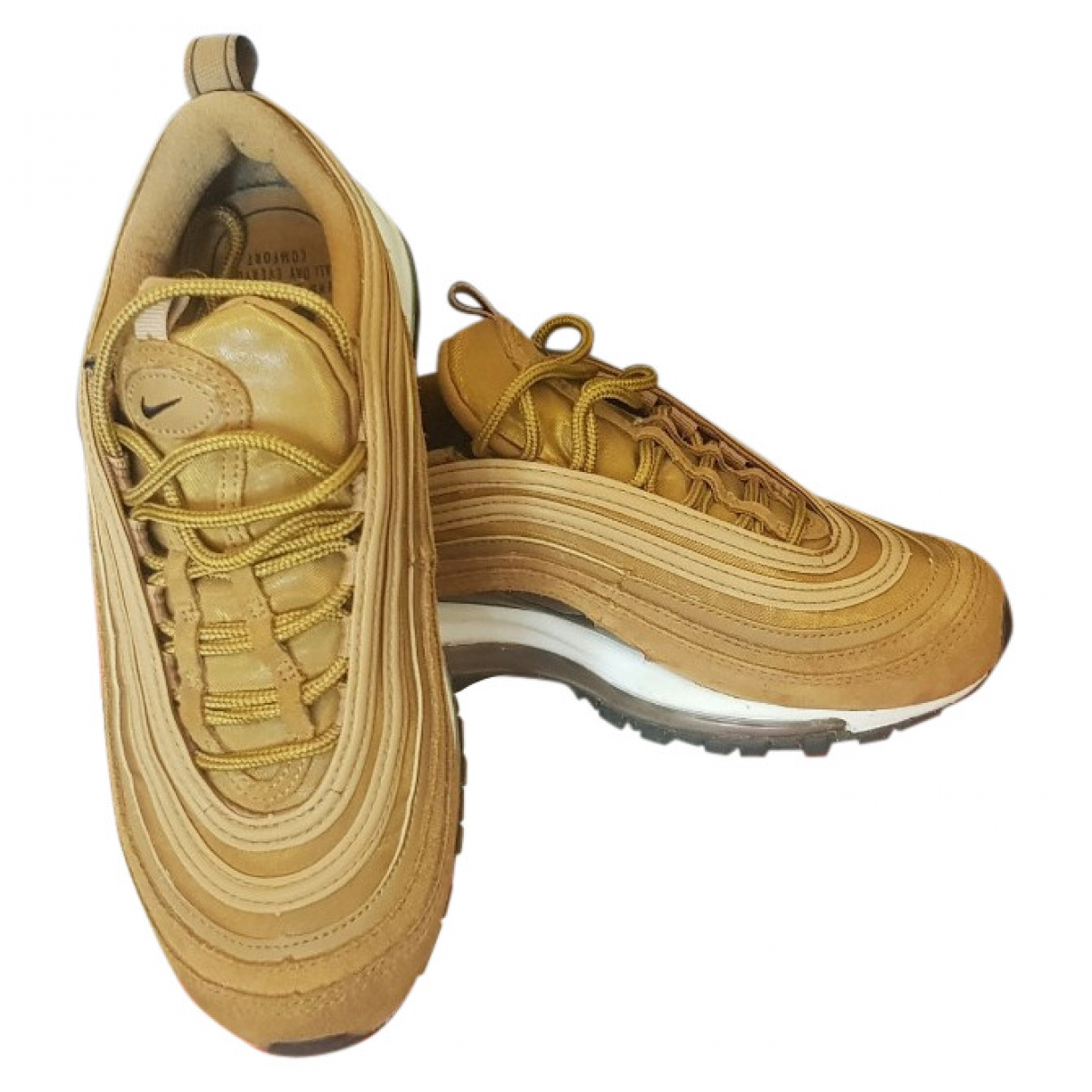 Nike Air Max 97 Camel Leather Trainers for Women 36 EU