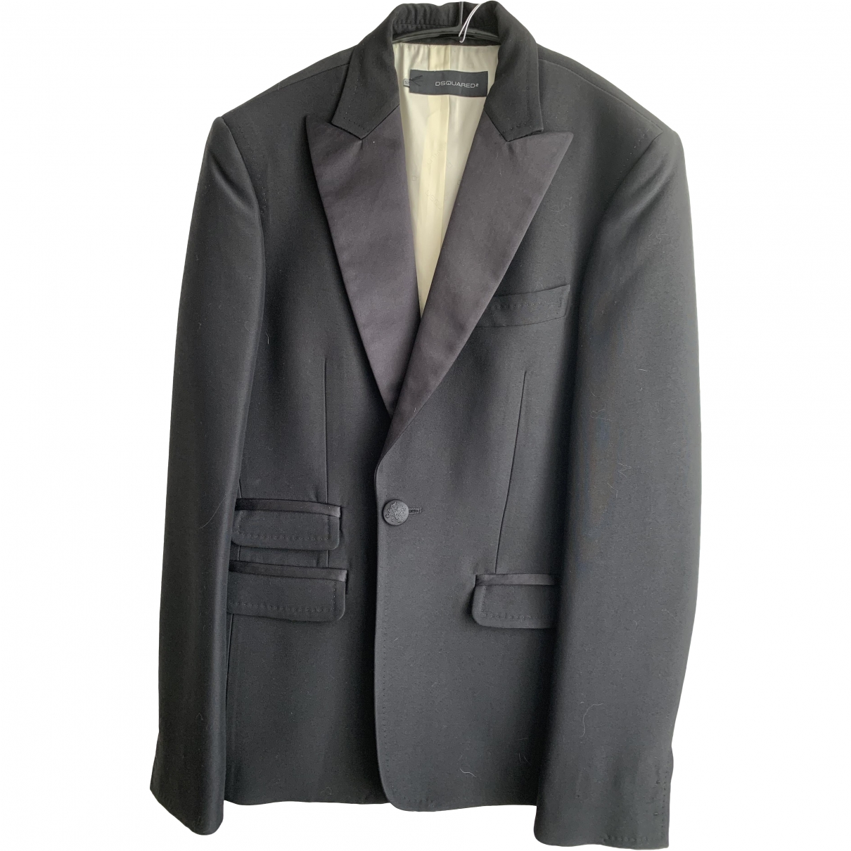 Dsquared2 \N Black Wool jacket  for Men 52 IT