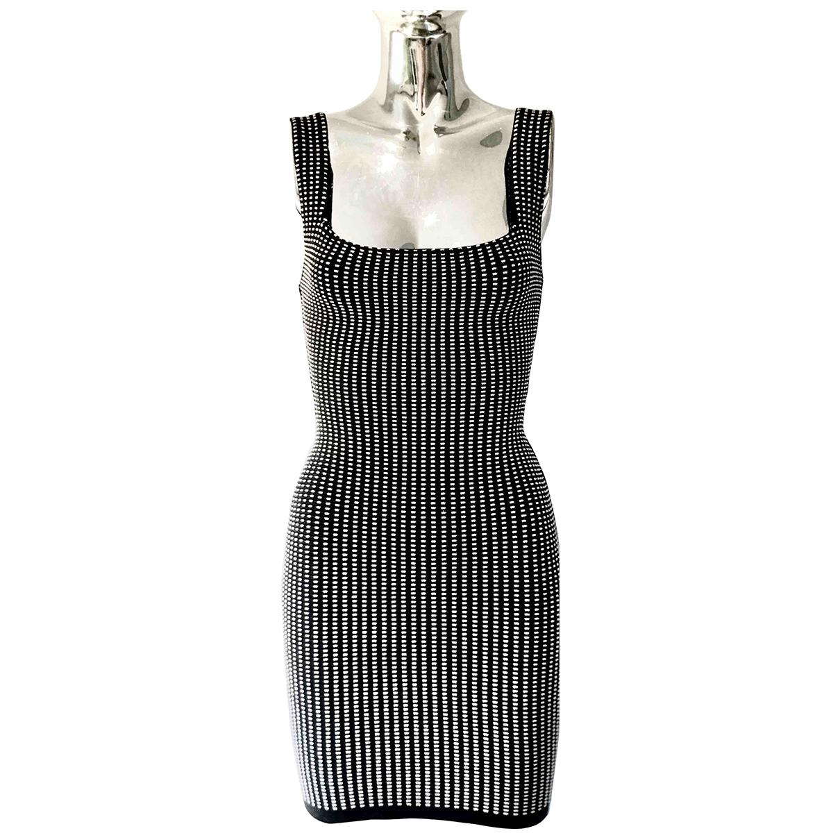 Alaia \N Kleid in  Schwarz Baumwolle - Elasthan