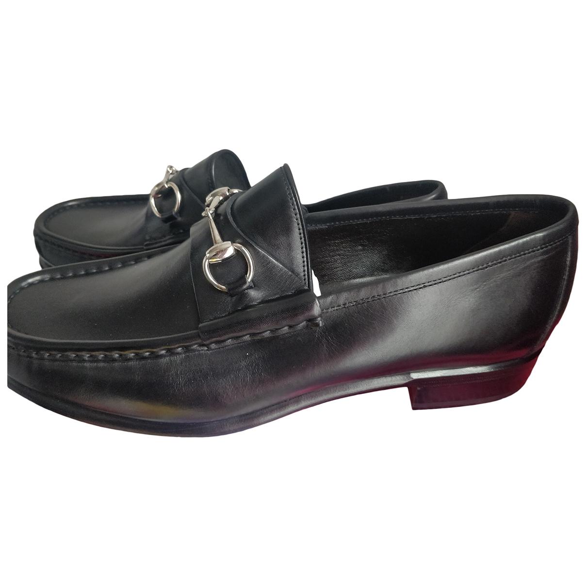 Gucci - Mocassins   pour homme en cuir - noir