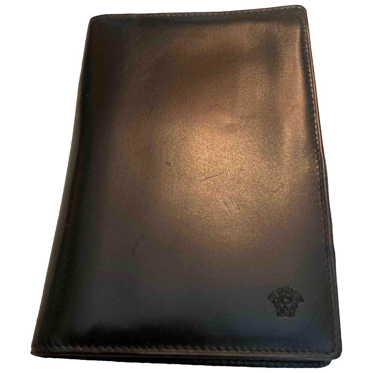 Gianni Versace - Petite maroquinerie   pour homme en cuir - noir