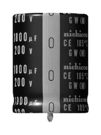 Nichicon 100μF Electrolytic Capacitor 400V dc, Through Hole - LGW2G101MELZ25